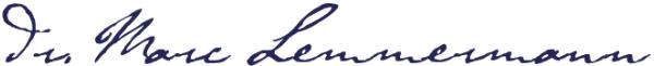 Marc Lemmermann, persönliche Note