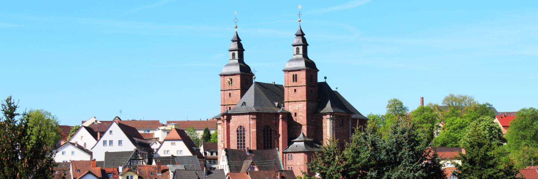 Das Bild zeigt die Wallfahrtskirche in Walldürn.