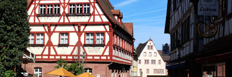 Das historische Rathaus in Walldürn.