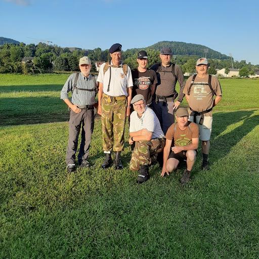 Kameraden der RAG Marschgruppe der RK Meppen beim Marsch der Armee in Diekirch