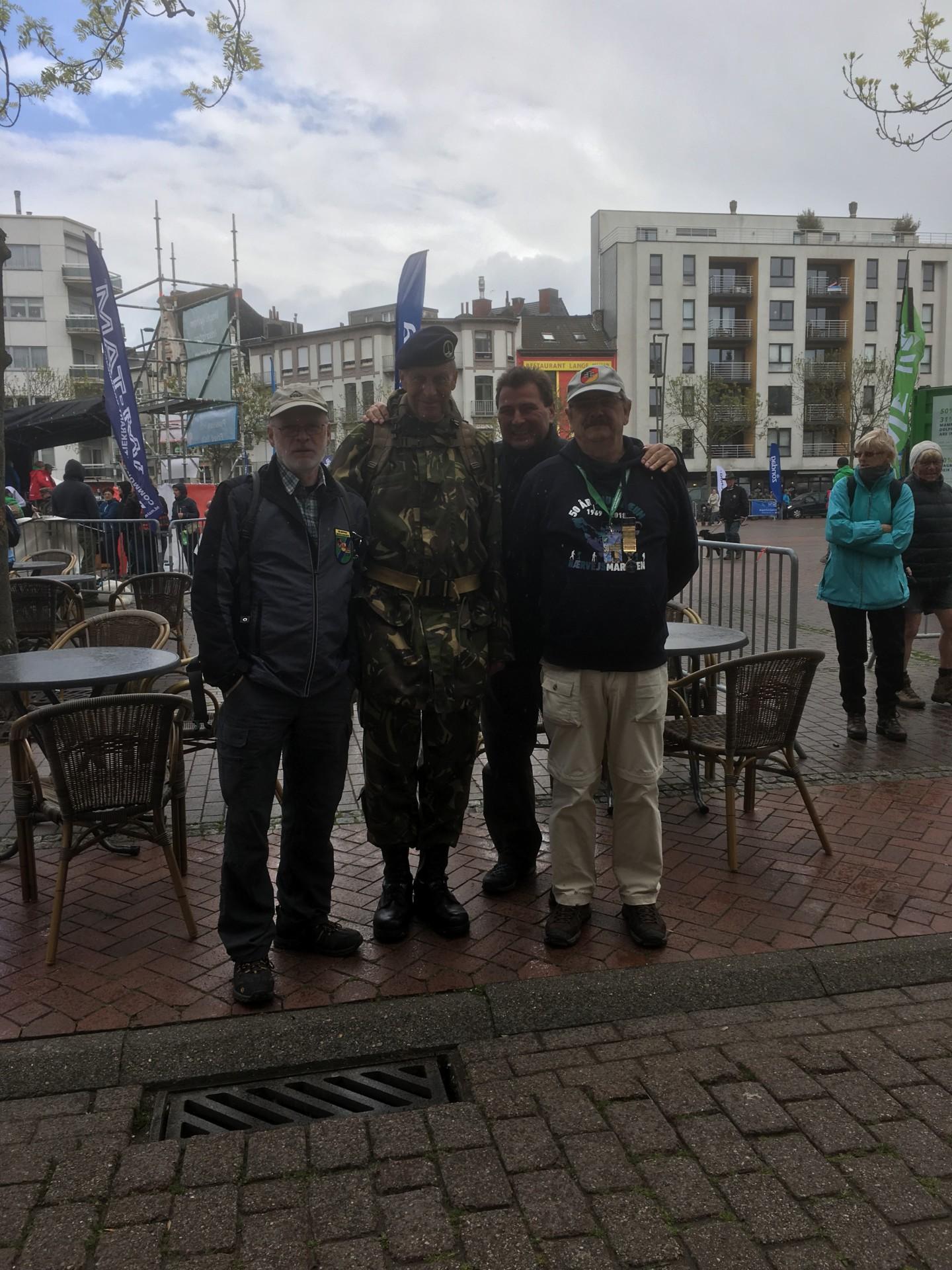 Die RAG Marschgruppe beim Internationalen 2-Tage-Marsch von Flandern