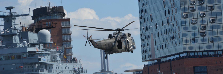Bw Hubschrauber in Hamburg