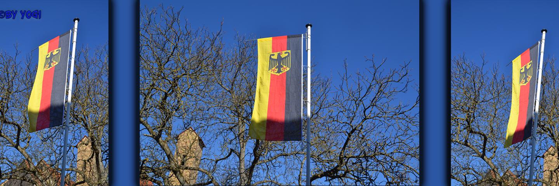 Neuer Flaggenmast und neue Flagge