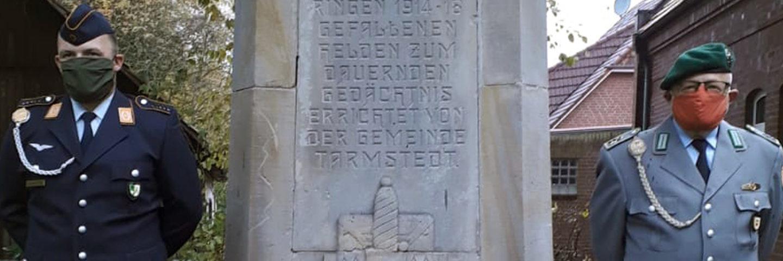 Kranzniederlegung in Tarmstedt 2020