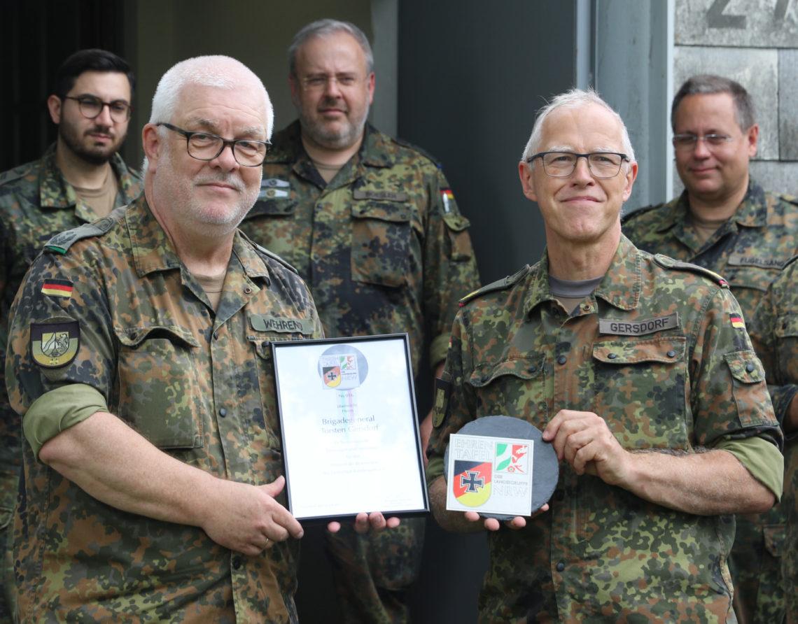 Ehrung General Gersdorf, Brigadegeneral Torsten Gersdorf