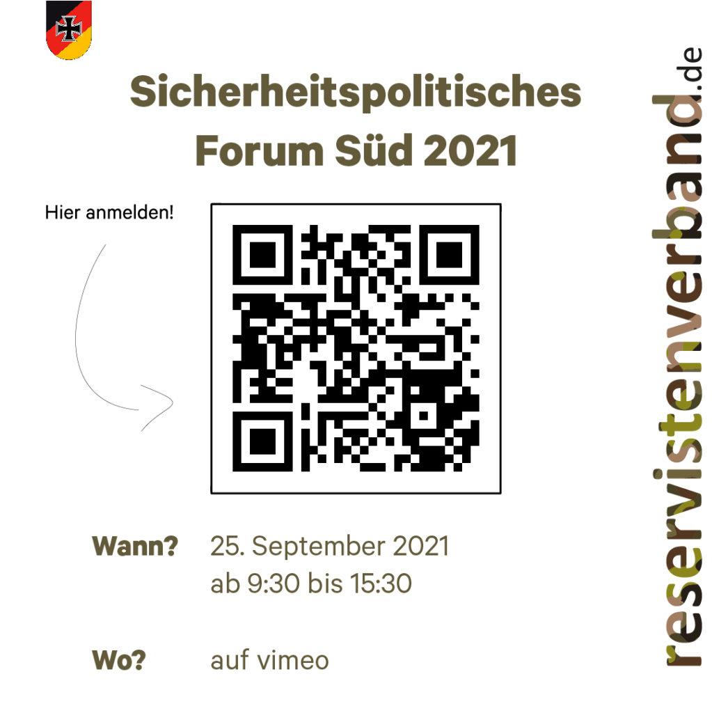 Sicherheitspolitisches Forum Süd: jetzt anmelden